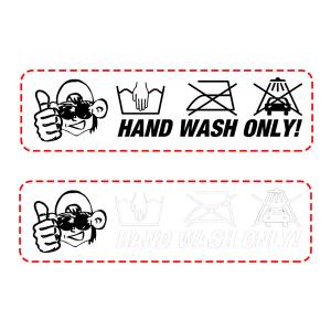 Autodude klistermärke - Hand Wash Only