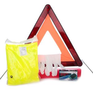 Säkerhetskit inklusive varningstriangel