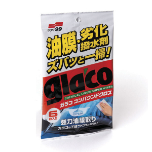 Glasrengöring Våtservetter Soft99 Glaco Glass Compound Wipes, 6 st