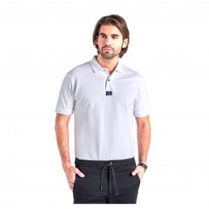Kortärmad Piké Gyeon Polo T-Shirt, Vit