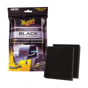 Plastbehandling med appliceringssvamp Meguiars Ultimate Black Sponges (2 st)