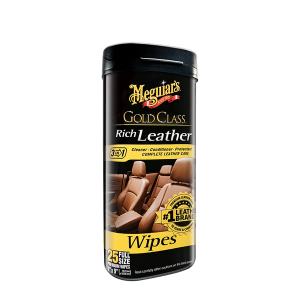 Nahanpuhdistuspyyhkeet Meguiars Gold Class Rich Leather Wipes, 25 kpl