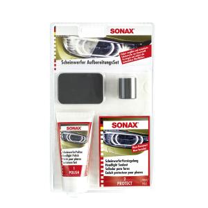 Ajovalojen kiillotussarja SONAX Headlight Restoration Set
