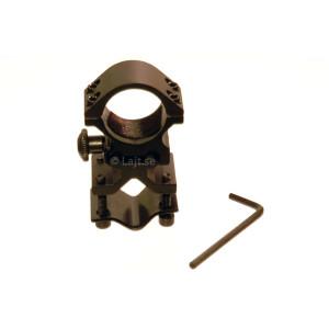 Pipfäste för ficklampa 25mm, snabbfäste