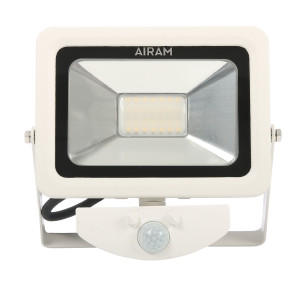 LED-arbeidslys Airam Floody 230V, med bevegelsessensor (hvit)
