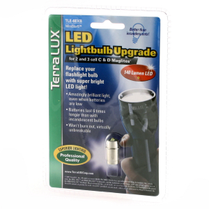 LED-oppgrad. 4-6 C&D Maglite, 200 lm