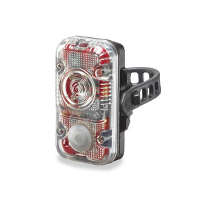 Cykellampa Röd Lupine Rotlicht, 160 lm