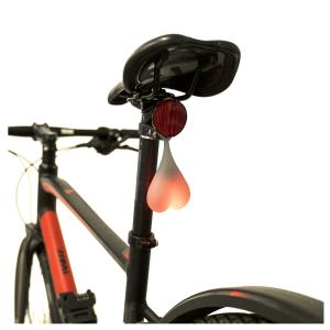 Cykellampa Röd baklampa Hjärta, 15 lm