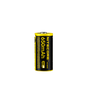 16340 / RCR123-batteri Nitecore, Micro-USB-laddbart, 650 mAh