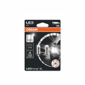 LED-poltinpari Osram LedDriving SL, 6000K, BA9s (T4W)