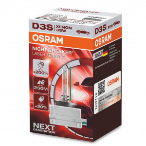 Xenon-poltin Osram Xenarc Night Breaker Laser 200%, D3S