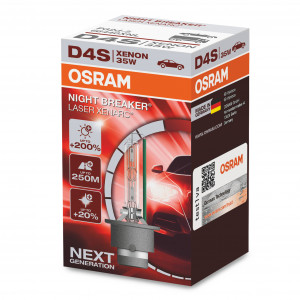 Xenon-poltin Osram Xenarc Night Breaker Laser 200%, D4S