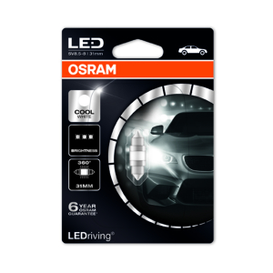 Putkipoltin Osram PREMIUM, 6000K, 31 mm