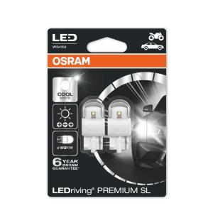 LED-poltinpari Osram PREMIUM, 6000K, T20 (W21W)