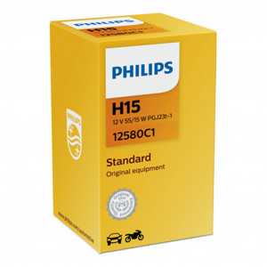 Halogenpære Philips H15, 12V, 55/15W