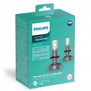 LED-konvertering PHILIPS H8/H11/H16 LED Ultinon +160%