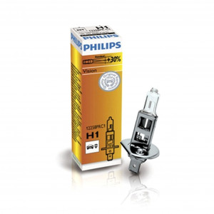Halogenlampa PHILIPS Vision +30%, 55W, H1