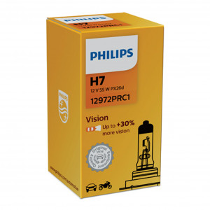 Halogenlampa PHILIPS Vision +30%, 55W, H7