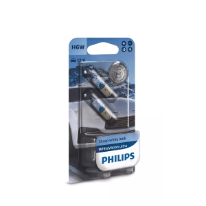 Halogeenipolttimo PHILIPS WhiteVision ultra, 6W, BAX9s, 2 kpl