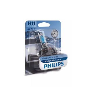 Halogeenipolttimo PHILIPS WhiteVision ultra, 55W, H11, 2 kpl