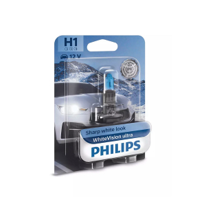 Halogeenipolttimo PHILIPS WhiteVision ultra, 55W, H1, 2 kpl