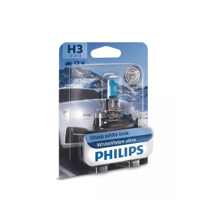 Halogeenipolttimo PHILIPS WhiteVision ultra, 55W, H3, 2 kpl
