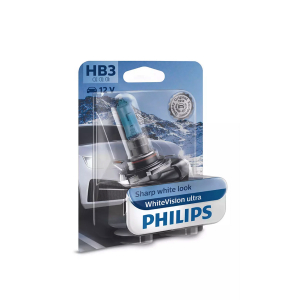 Halogeenipolttimo PHILIPS WhiteVision ultra, 60W, HB3, 2 kpl