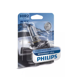 Halogeenipolttimo PHILIPS WhiteVision ultra, 55W, HIR2, 2 kpl