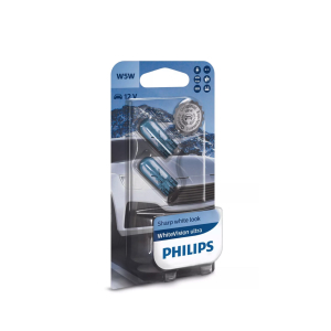 Halogeenipolttimo PHILIPS WhiteVision ultra, 15W, T10, 2 kpl