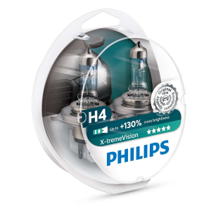 Halogenpære Philips X-TremeVision +130%, 60/55W, H4