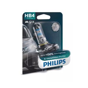 Halogeenipolttimo PHILIPS X-TremeVision Pro150, 150%, 51W, HB4