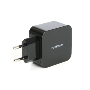 PurePower 230V 2x USB-adapter