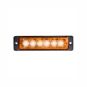 Blixtljus Strands Strobe Light Slim, 6 LED, Orange