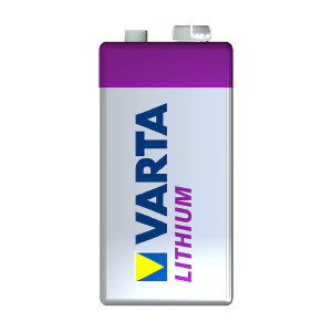 9V-paristo VARTA Professional Lithium, 1 kpl