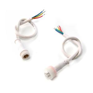 RGB LED-slinga 4-pin stiftkontakt, vattentät