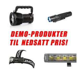 DEMOPRODUKTER - uten/skadet emballasje - REDUSERT PRIS!