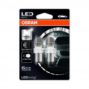 LED-pærer Osram PREMIUM, 6000K, BAY15D (P21/5W)