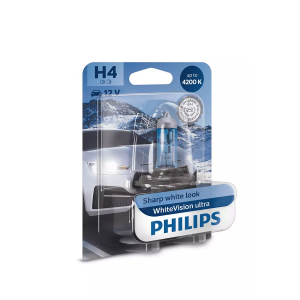 Halogenpære Philips WhiteVision ultra, 55/60W, H4