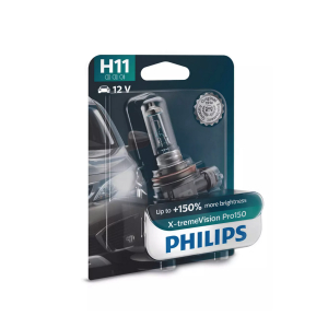 Halogenpære Philips X-TremeVision Pro150, 150%, 55W, H11