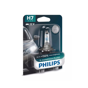 Halogenpære Philips X-TremeVision Pro150, 150%, 55W, H7