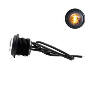 Blinklys Oransje LED 12-24V Strands, Rund