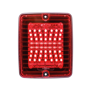 Takavalo Strands Ize Led Tail Light, Punainen linssi, 24 V
