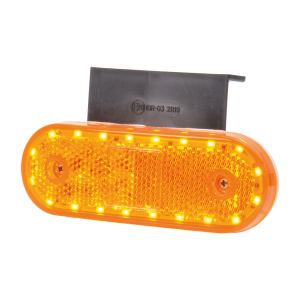 Sidomarkeringsljus med blinkers, Strands Orange 12-24V