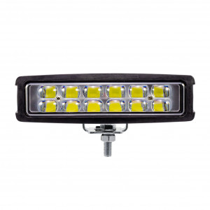 LED-Backljus / Arbetsbelysning 12W, Bred