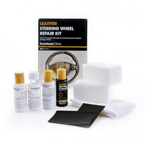 Repareringssett Skinnratt, Furniture Clinic Leather Steering Wheel Repair Kit