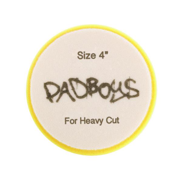 Poleringspute Padboys Hex, Gul (Heavy Cut)