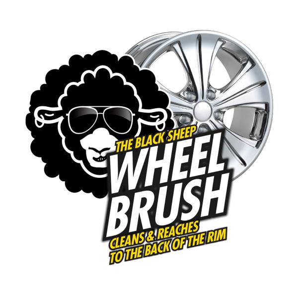 Fälgborste Glosser Black Sheep Wheel Brush