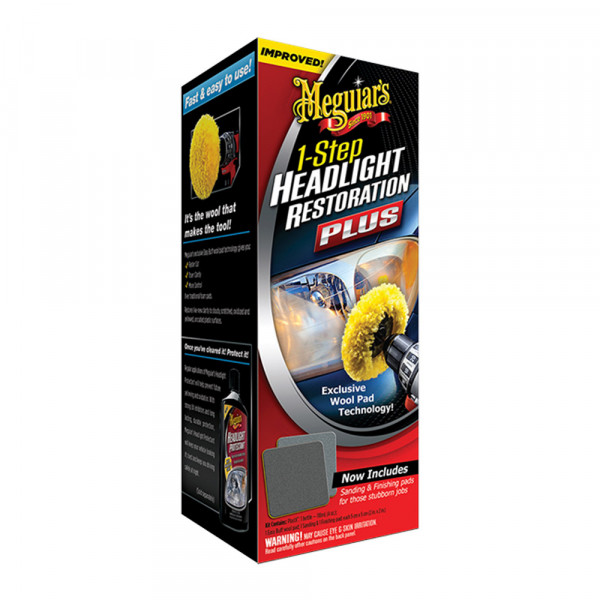 Poleringssats strålkastare Meguiars 1-Step Headlight Restoration Kit