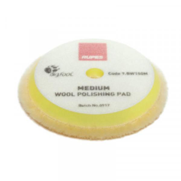 Ullrondell Rupes Wool Polishing Pad Medium, Gul