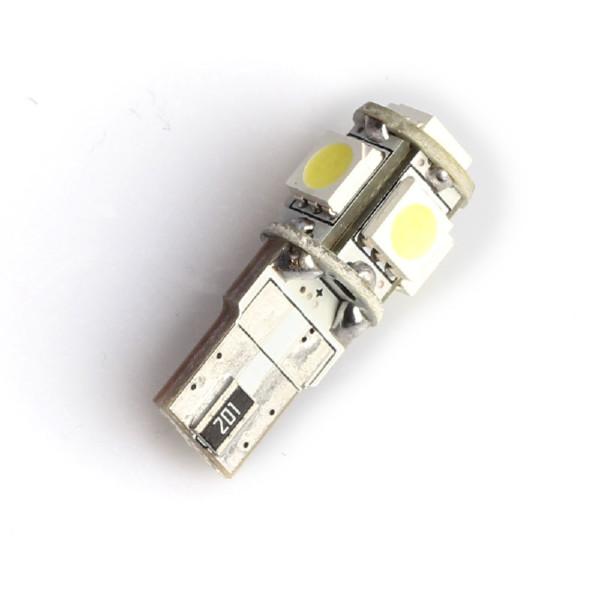 T10 lampa (W5W) 5 LED, 200 lm (2 st)